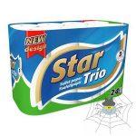 Star Trio 3 rétegű toalettpapír - 24 tekercs/csomag